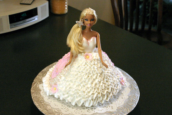 barbie bridal shower cake 1