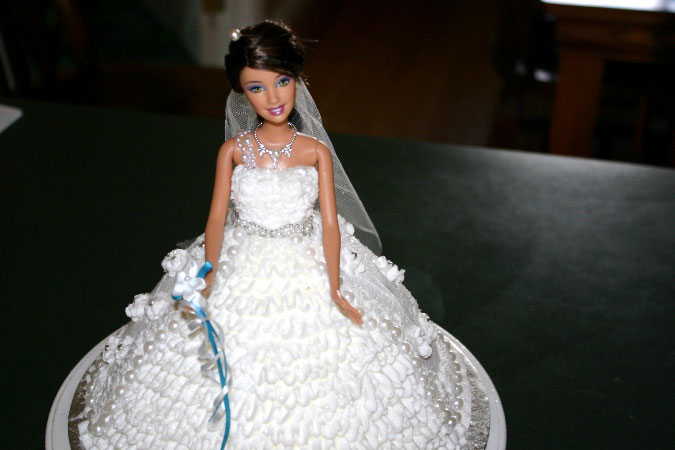 barbie bridal shower cake 3