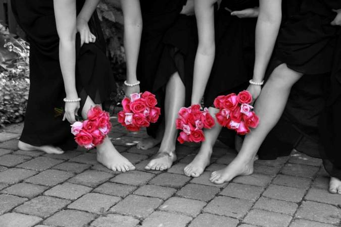 Show off bridesmaids bouquets
