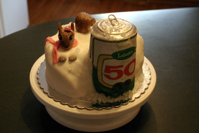 Labatts 50 birthday cake