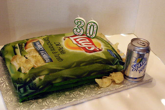 Lays Chips Edible Photo Cake