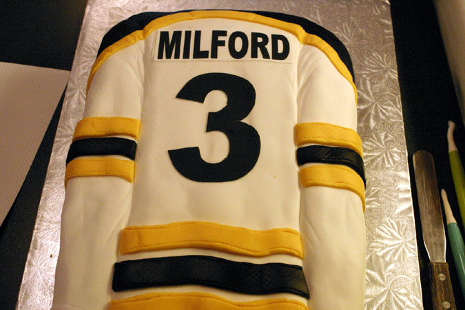 smiths falls bears hockey jersey cake