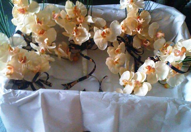 nature corsages using cammo ribbon for hunters