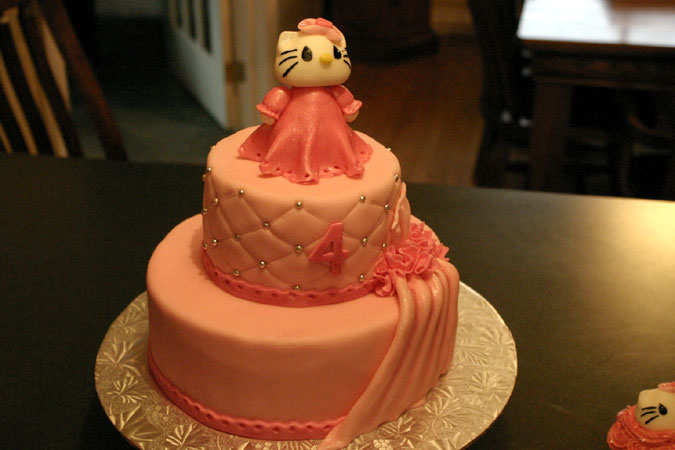pink miss kitty cake