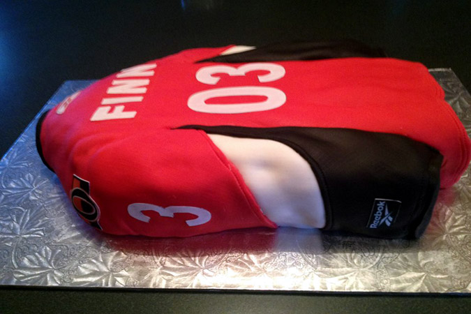 senators hockey jersey cake