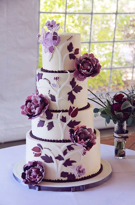4 tier purple