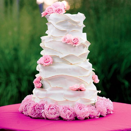 tower with flowing ruffles